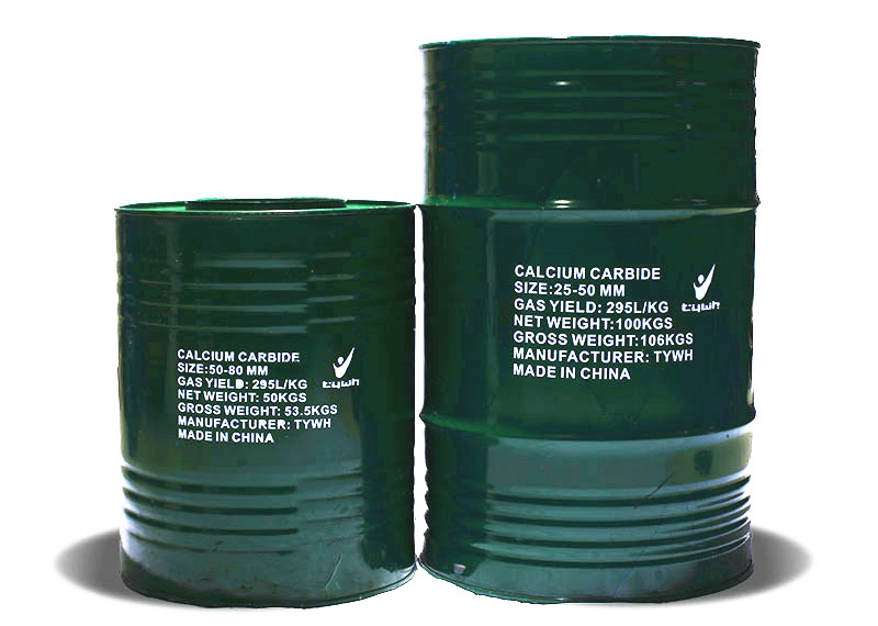 Calcium Carbide:50KG&100KG Green Packing Drums
